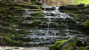 Small waterfall with litle water in Sweden Stock Photo