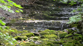 Small waterfall with litle water in Sweden Royalty Free Stock Photos