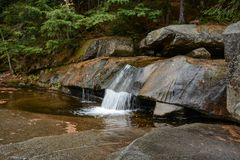 Rocy Stream. A small waterfall located just above Screw Auger Falls in Grafton Notch State Park in Maine Royalty Free Stock Images