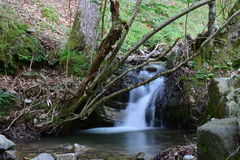 Small Waterfall. Located at 'Lugar del Rio', La Rioja, Spain Stock Image