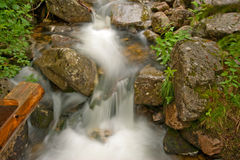 Small Waterfall. With long exposure Royalty Free Stock Photos