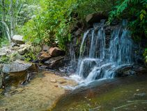 Small waterfall at Montseny nature reserve Stock Photography