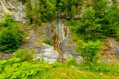 Small waterfall on a mountain river Royalty Free Stock Photo