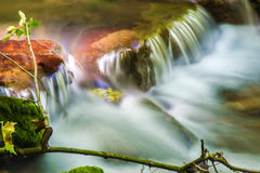 Small Waterfall on a Mountain Stream Royalty Free Stock Image