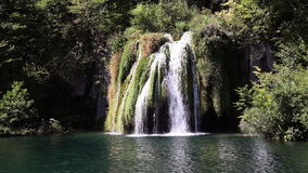 Small waterfall in the national park Plitvice-Croatia. Close up shot of a small waterfall in the national park Plitvice-Croatia stock video footage