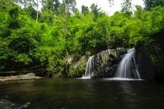 A small waterfall in nature. royalty free stock images