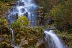 Around Sorrosal waterfall in Broto, Huesca Royalty Free Stock Images