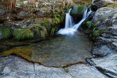Small waterfall near Morcuera, Madrid, Spain Stock Photography