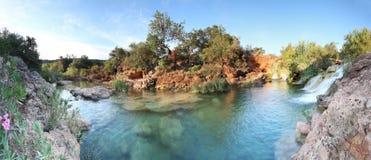 Small waterfall near tavira, pt Royalty Free Stock Photos