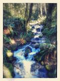 Small waterfall... Royalty Free Stock Photos