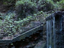 A small waterfall. In the park Royalty Free Stock Photo