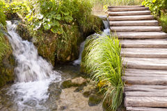Small Waterfall - Plitvice Lakes Stock Photography