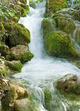 Small waterfall in the Plitvice national park Royalty Free Stock Photo