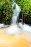 Small waterfall and pond Stock Photo