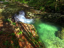 Small waterfall with pool Royalty Free Stock Photography