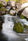Small waterfall in Retezat Mountains. Royalty Free Stock Photos