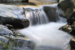 Small waterfall in the river Royalty Free Stock Images