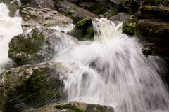 Small waterfall in river bed 03 stock photo