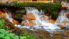 Small waterfall stock video footage
