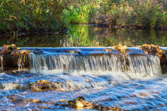 Small Waterfall in a river Royalty Free Stock Photos