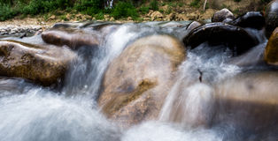 Small waterfall. Of river in Krasnodar Royalty Free Stock Image