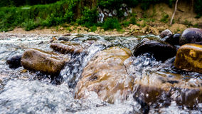 Small waterfall. Of river in Krasnodar Royalty Free Stock Photos