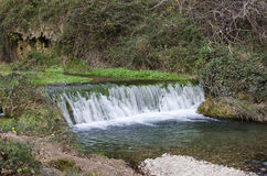 Small waterfall in river Palancia Stock Photography