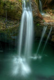 Small waterfall in river Soca gorges in Slovenian Alps Central E Royalty Free Stock Photos