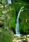 Small waterfall among rocks Royalty Free Stock Photo