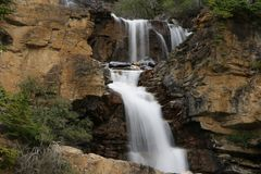 Small waterfall in the rocky. stock image