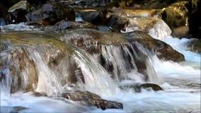 Small waterfall. Russia, Krasnodar Region, Khostinsky district in the upper reaches of the Khosty River. stock footage