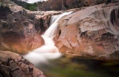 Small waterfall in SIerra de Guadarrama National Park Stock Photo