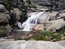 Small waterfall in the Sierras stock images