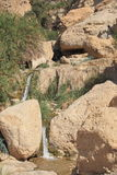 Small Waterfall & Stream in Ein Gedi Oasis Royalty Free Stock Images