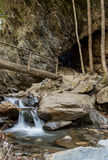 Small Waterfall in Styx Branch at Arch Rock. Vertical Royalty Free Stock Photo