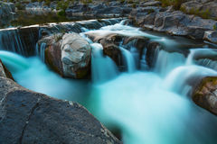 Small waterfall time exposure h Royalty Free Stock Images