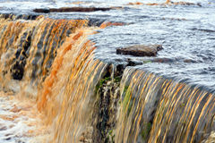 Small waterfall on Tosna River. Stock Photo