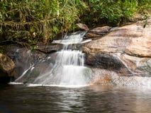 Small Waterfall. In between trees, in Joatinga park,near Paraty, Rio de Janeiro, Brazil Royalty Free Stock Photo