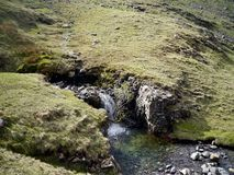 Small waterfall viewed from above Stock Photos