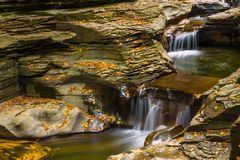 A small waterfall, Watkins Glen State Park Stock Photos