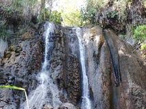 A small waterfall in the wild jungle .  Palawan Island . A small waterfall in the wild jungle . Philippines. Palawan Island stock footage