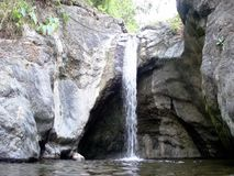 A small waterfall in the wild jungle . Philippines. Palawan Island stock video footage