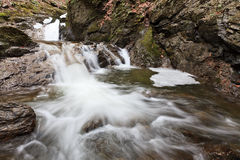 Small waterfall in winter Stock Image