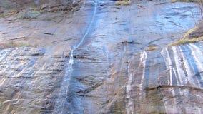 Small Waterfall at Zion National Park Utah Panning Shot stock video