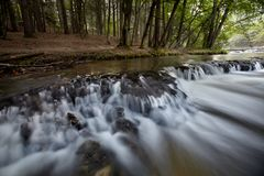 Small waterfalls called noise Stock Image