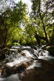 Small waterfalls in Monasterio de Piedra Royalty Free Stock Photo
