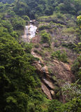 A small waterfalls from the mountain Royalty Free Stock Photo