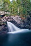 Small Waterfalls In New Brunswick, Canada. A small but stunning waterfall on Williams Brook in Mount Carleton Provincial Park in the Canadian province of New stock images