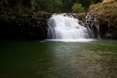 Small waterfalls on the North side of Maui Hawaii Royalty Free Stock Photo