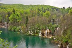 Small waterfalls - Plitvice lakes Royalty Free Stock Images